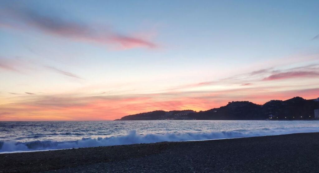 Playa san cristobal atardecer